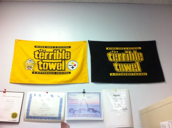 dru teel terrible towel from alaska