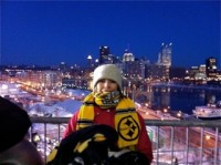 wendy siefert at the steelers afc championship 2011