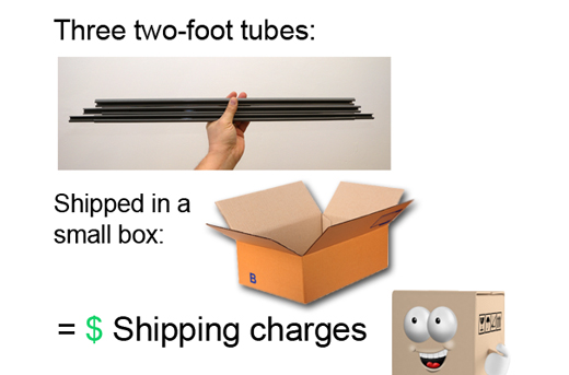 small duct tubes in a small box