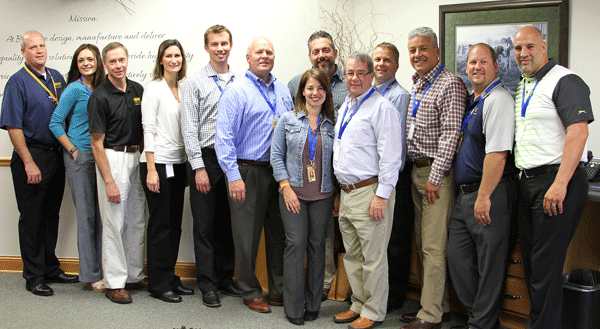 From L to R: BAPI Distribution Lead Jon Greenwald; Sarah Jeffries; BAPI Key Account Specialist Brian Thaldorf, BAPI North American Sales and Customer Service Manager Emily Bialkowski;Jason McCormick; Barry Olson; Laci Jackson; Jim Kalafatis; Dave Meyers; BAPI President Ritch Stevenson; Gerardo Vergara-Monroy; Travis Haas; Chris Colacito.